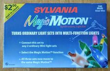 Sylvania New Magic Motion 150 Multi Color Christmas Lights Green Wire Controller