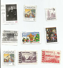 CANADA; LOT OF 8 incl. $1 1967 The 100th Anniversary Celebration used.s*