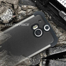 Hard Armor Phone Case Dual Cover For HTC ONE M8 w/Shockproof Design+Screen Film