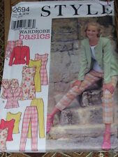 STYLE #2694 - LADIES (GREAT FOR TRAVEL) DRESS - 3 STYLE TOP-PANTS PATTERN 8-18FF
