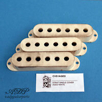 Pickup Cover Relic for Stratocaster (Caches micros) Aged White (3PCS) CS1W-Aged