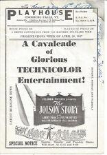 PLAYHOUSE,ENOSBURG FALLS,VT. THE JOLSON STORY,GLORIOUS TECHNICOLOR,CIRCA 1946