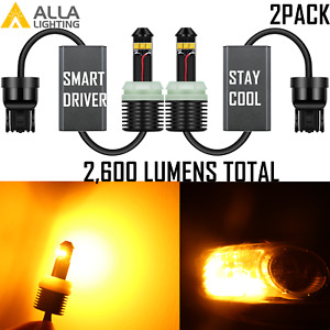 Alla LED Brightest Amber Yellow 7443A Parking Light|Turn Signal Light for Ford