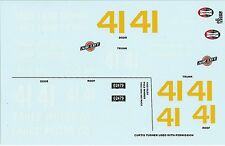 GOFER RACING 1:24 AND 1:25 SCALE CURTIS TURNER DECAL SET FOR MODEL CARS