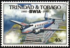 BWIA British West Indies LOCKHEED LODESTAR Model 18 Airliner Aircraft Stamp