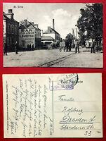 Militär AK ST. ERME Frankreich 1. WK 1916 Strasse mit Kleinbahn Strecke  ( 15415