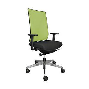 Girsberger Yanos Paul Brooks Rücken Netz grün Sitz Stoff schwarz Bürostuhl