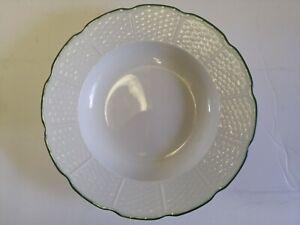 "Villandry Raynaud Limoges rim soup plates, dessert bowls 22cm, 8.75"" set of 4"