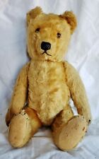 Antique Teddy Bear Early Steiff Excelsior Straw Stuffed Jointed Poseable Mohair