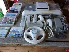 Wii Console Bundle: Balance Board, 7 Games, 2 Controllers, 2 Numchuks, Wheel.