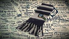 Harry Potter Ravenclaw Hogwarts Warm Winter Scarf With Tassles Cosplay Gift
