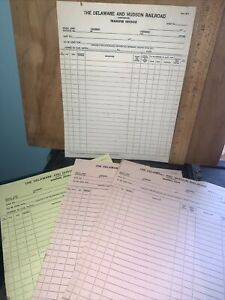 Vintage Delaware and Hudson Railway Company -Invoices,Transfer Sheets.