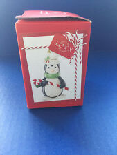 Lenox Christmas Holiday Ornaments (Chilly Candy Cane Penguin)