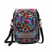 Chic Woman's Embroidered Bag Ethnic Tribal Messenger Tote Bag Shoulder Handbag