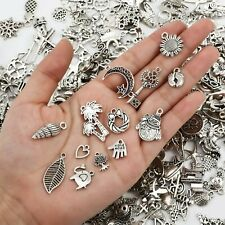 10 Mixed Charms Antiqued Silver Pendants Random Assorted Lot Jewelry Findings