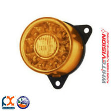 Whitevision RD101SZZ-2-2-AA Rear Direction Indicator Lamp 55mm Round Amber 12V