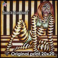 pop art op painting figures woman portrait landscape original prints home decor