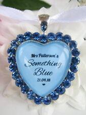 Bridal Bouquet Charm Something Blue Bride Diamantés Wedding Gift Accessories