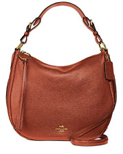🌺🌹Coach Leather Sutton Hobo 1941 Saddle/Gold 35593 Original Packaging