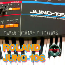 for Roland Juno-106 Original Factory & New Created Sound Library & Editors