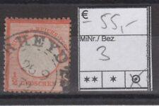 Deutsches Reich Brustschild Mi. Nr.  3  gestempelt / BPP Hennies