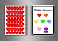 lot 72x autocollant stickers scrapbooking scrapbook DIY carte coeur