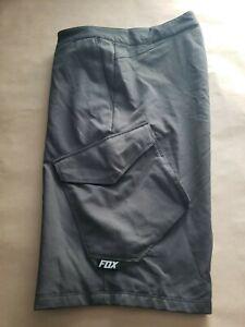 """Fox Racing Men's Gray Ranger Mountain Bike Cargo Cycling Shorts Size 32x11 22"""""""
