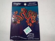 Asian Dragon Applique Patch New 3-3/4� adhesive patch