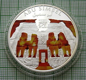 COOK ISLANDS 2012 DOLLAR, ABU SIMBEL - HISTORY OF EGYPT, COLOURED IN CAPSULE
