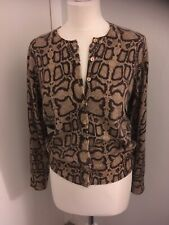 ANIMAL PRINT CASHMERE CARDIGAN SIZE 12  FROM AUTOGRAPH AT M & S - LOW PRICE!