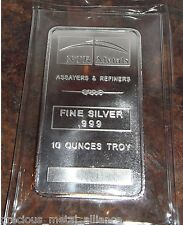 NTR Metals 10 Troy Oz .999 Silver Bar - MADE IN THE USA  SKU27741 TWO DAY SHIP !