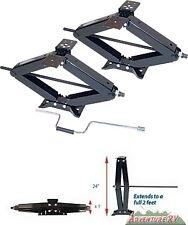 "RV Trailer Camper Scissor Stabilizer Jacks 6500 LB Pound 24"" Lifetime Warranty"