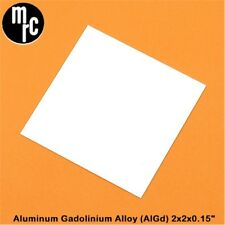 "New Mrc Aluminum Gadolinium Alloy (AlGd) Polished Substrate, 2"" x 2"" x .015"""
