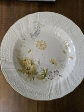 """MIKASA FINE IVORY """"SPRING MEADOW""""  9 1/4"""" LARGE RIM SOUP BOWLS - set of 3"""