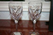 "2 Waterford Crystal John Rocha ""Signature"" White Wine Glasses + Box, Labels 21cm"