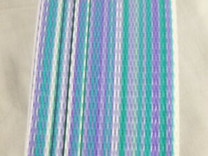 """NOS Vtg Lawn Chair Web Webbing Turquoise Blue Lilac 40 ft x 2.25"""" Unused"""