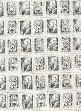 Tela antique para hacer Escapularios santino image pieuse hholy card