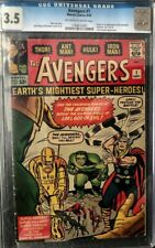 Avengers #1 CGC graded 3.5, OW/W pages, 1963, 1st appearance of Avengers