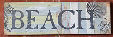 """Rustic  Wood  """" BEACH """"   Wall  Plaque    BRAND  NEW      Last One Left"""