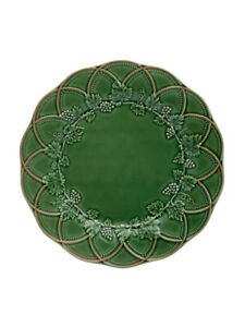 Woods - Charger Plate 32,5 Green/Brown - Bordallo Pinheiro NEW COLLECTION