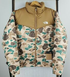 NWT $229 THE NORTH FACE Size Large Mens Duck Frogskin Camouflage Puffer Jacket