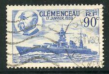STAMP / TIMBRE DE FRANCE OBLITERE N° 425 CUIRASSE LE CLEMENCEAU