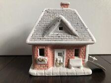 Nwt Joann Fabrics Ceramic Pink Light Up Led Mini Cottage House