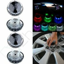 4X Car Solar Wheel Center Cap Color transform Light Rim Hub LED Colorful Flash
