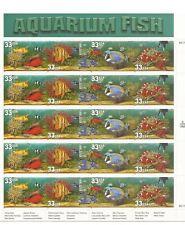 1998 AQUARIUM FISH #3317-3320 Full Mint -MNH- Sheet - USPS 33 Cent Stamps Sealed