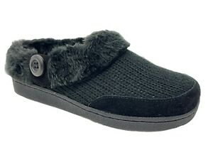 Clarks Womens Cozy Indoor Outdoor Clog Slipper With Plush Warm Faux Fur Lining