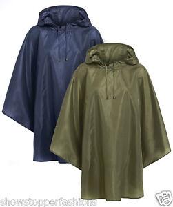 New Rain Coat Hooded Poncho Waterproof Festival Camping Hiking Cape Showerproof