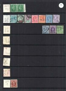 COLLECTION OF EDWARD VII - GEORGE VI PERFINS