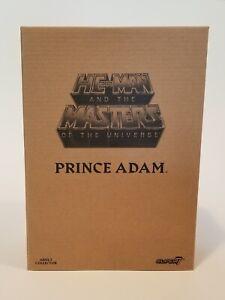 SUPER 7 MASTERS OF THE UNIVERSE MOTU CLASSICS LAUGHING PRINCE ADAM & SHIPPER BOX