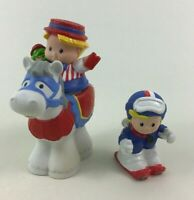 Little People Horse Skier Carnival Worker Fisher Price Figures 3pc Lot H8